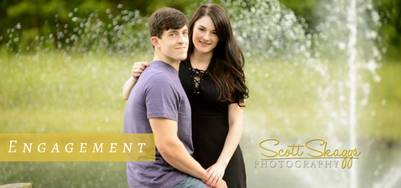 Photo shoot of an engaged couple
