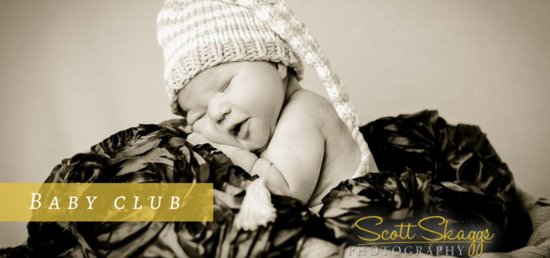 Picture of a baby with a soft blanket and hat